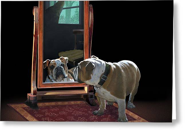 Double Trouble Greeting Card by Harold Shull