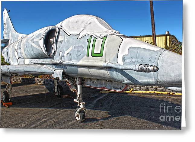 Douglas Skyhawk A-4f Greeting Card by Gregory Dyer