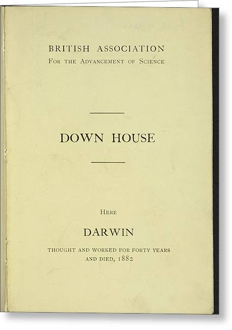 Down House Greeting Card by British Library