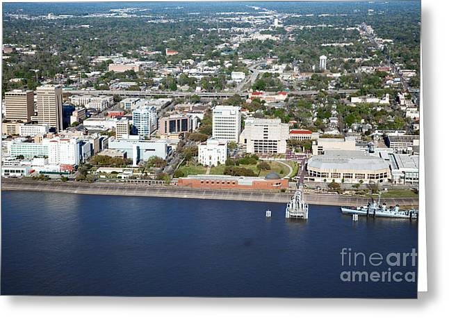 Downtown Baton Rouge Greeting Card by Bill Cobb
