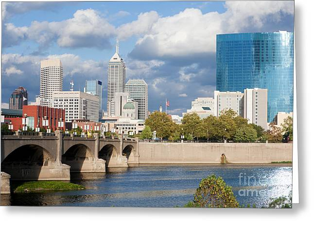 Downtown Indianapolis Indiana Greeting Card by Anthony Totah