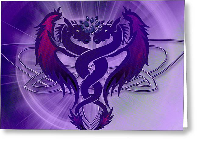 Dragon Duel Series 4 Greeting Card