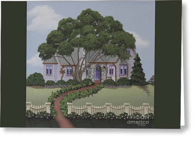 Dragonfly Cottage Greeting Card by Catherine Holman