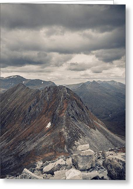 Dramatic Mountain Scenery In The Scottish Highlands Greeting Card by Leander Nardin