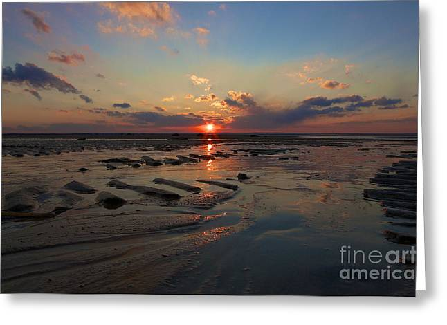 Dramatic Sunset Greeting Card