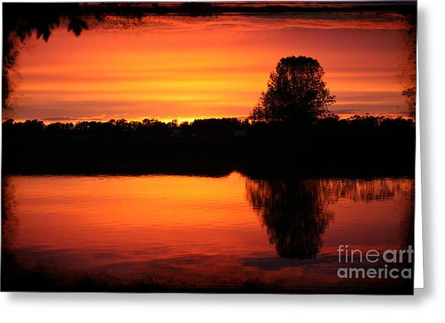 Dramatic Sunset Greeting Card by Sophie Vigneault