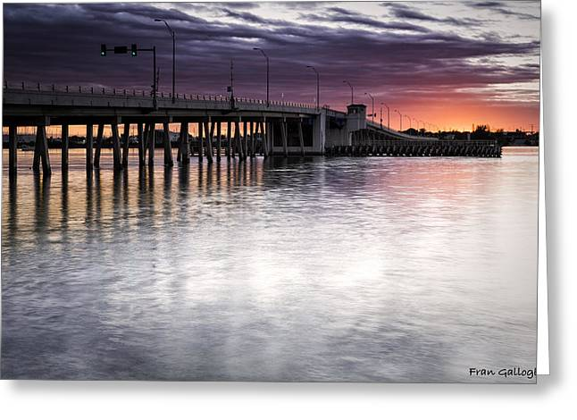 Drawbridge At Sunset Greeting Card