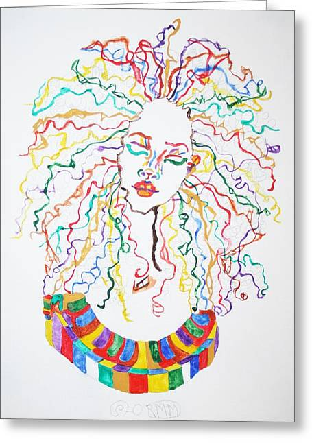 Dreadlocks Piano Goddess Greeting Card