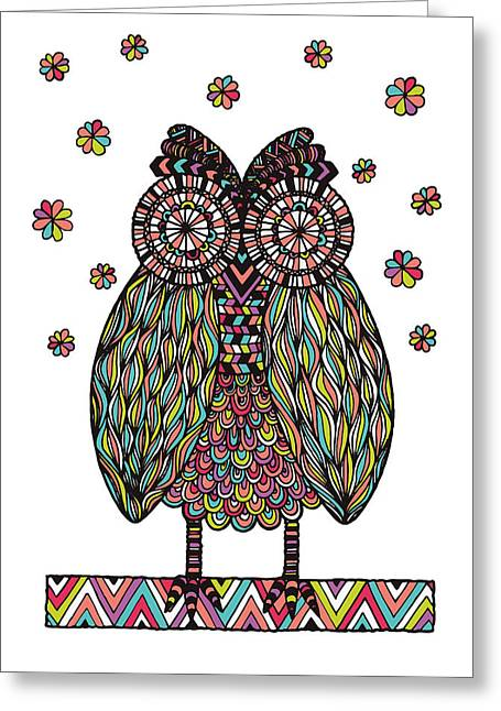 Dream Owl Greeting Card by Susan Claire