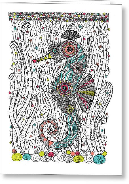 Dream Seahorse Greeting Card