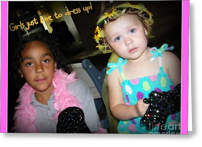 Greeting Card featuring the photograph Dress-up Time by Bobbee Rickard