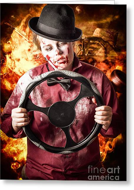 Drifting Asleep. Tired Drivers Die Greeting Card by Jorgo Photography - Wall Art Gallery