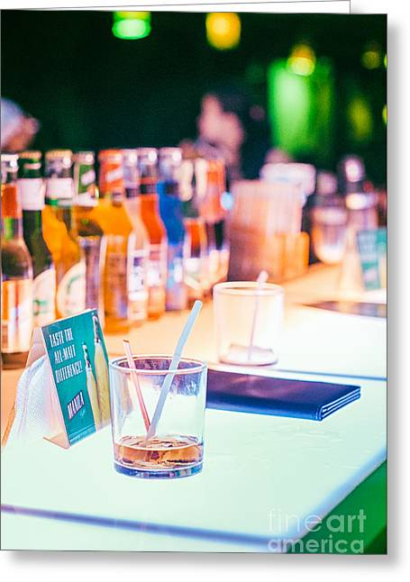 Drinking In Pub Or Bar Greeting Card by Tuimages