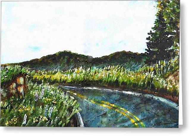 Driving In Maine Greeting Card by Shana Rowe Jackson