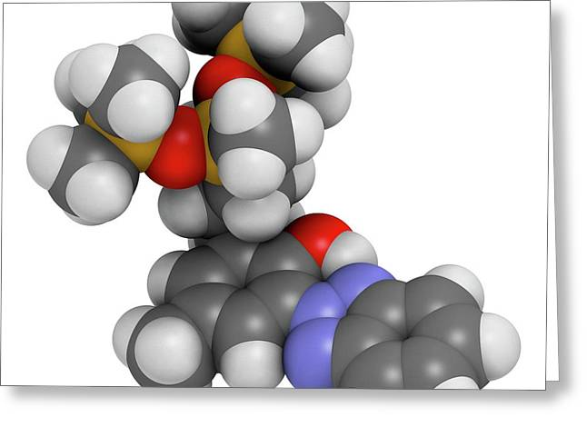 Drometrizole Trisiloxane Molecule Greeting Card by Molekuul
