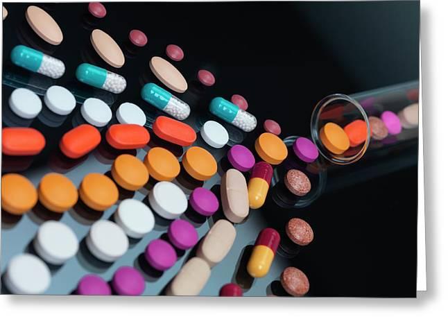 Drug Development Greeting Card by Tek Image