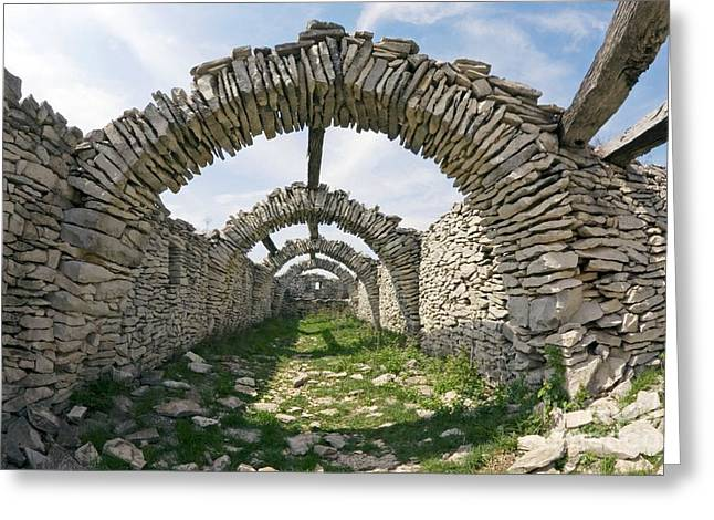 Dry Stone Architecture, France Greeting Card