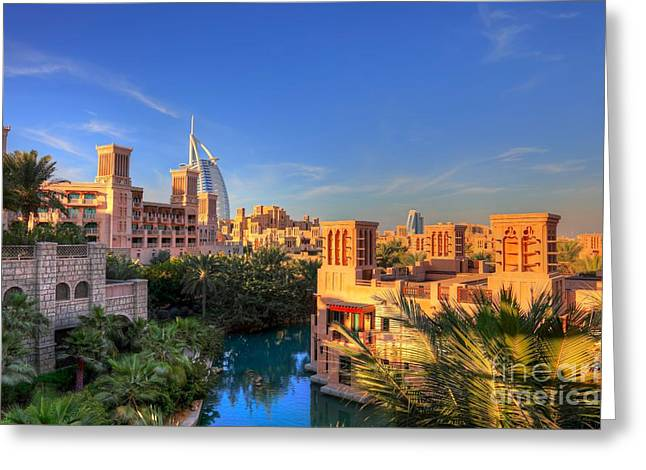 Dubai Skyline Greeting Card by Fototrav Print