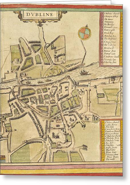 Dublin Greeting Card by British Library