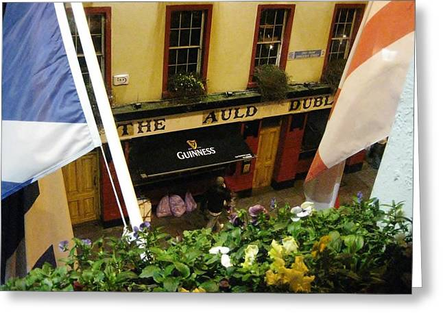 Dublin Pub Greeting Card by Tim Townsend