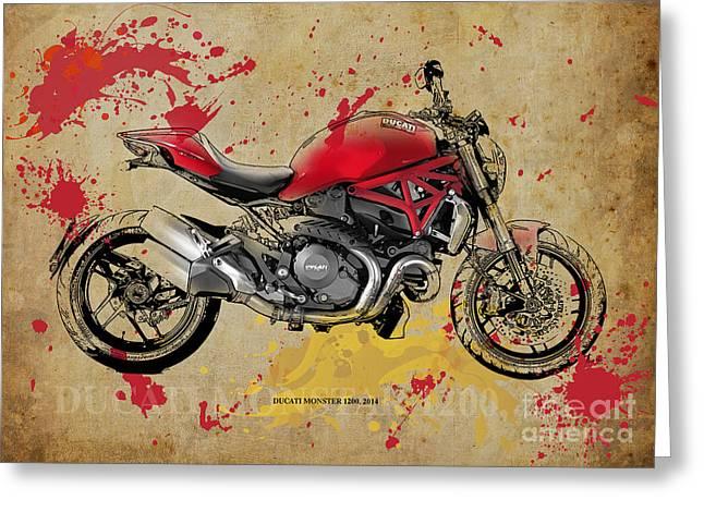 Ducati Monster 1200 2014 Greeting Card