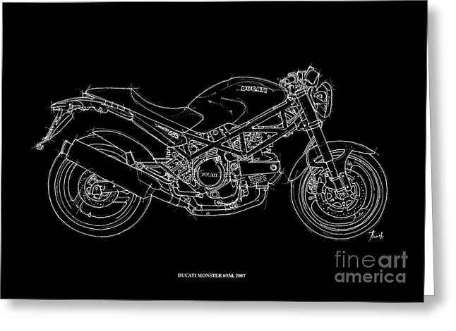 Ducati Monster 695d - 2007 Greeting Card by Pablo Franchi