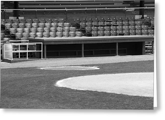 Dugout At The Old Ballpark Greeting Card by Frank Romeo
