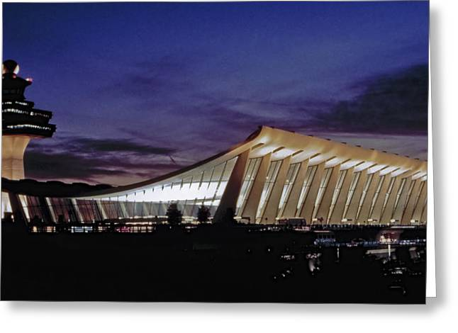 Dulles International Greeting Card by Greg Reed