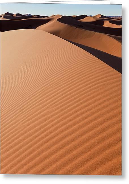 Dunes, Erg Chebbi, Sahara Desert Greeting Card