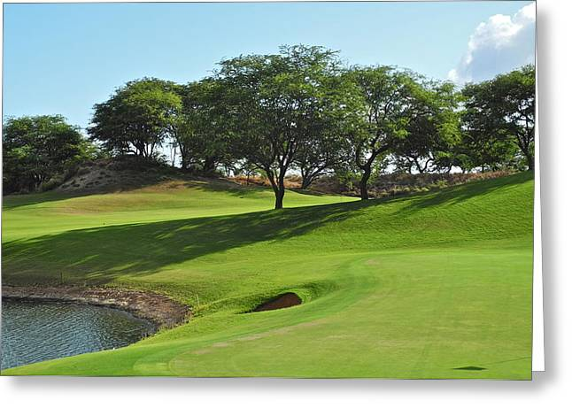 Greeting Card featuring the photograph Dunes Of Maui Lani Golf Course  by Kirsten Giving