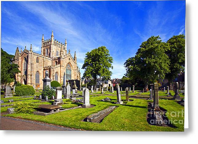Greeting Card featuring the photograph Dunfermline Abbey Scotland by Craig B
