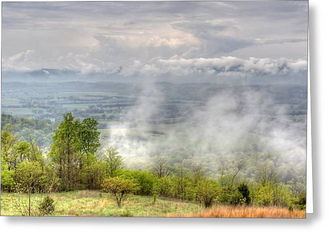 Dunlap Valley Greeting Card by David Troxel