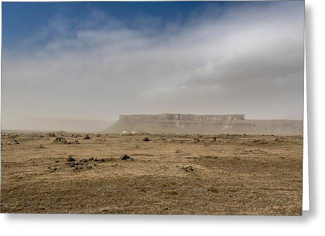 Dust Storm, Eastern, Iceland Greeting Card