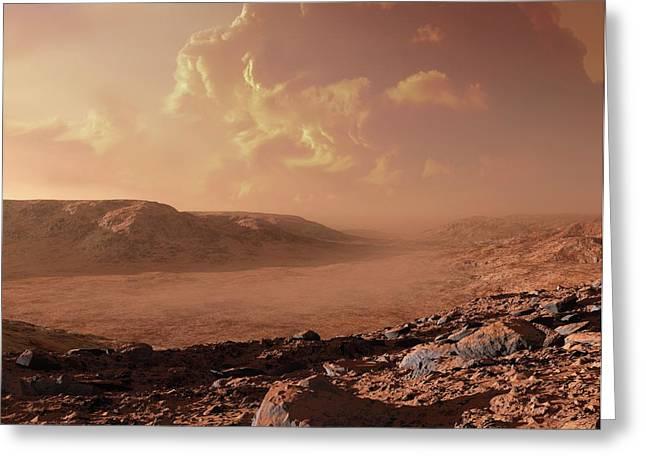 Dust Storm On Mars Greeting Card