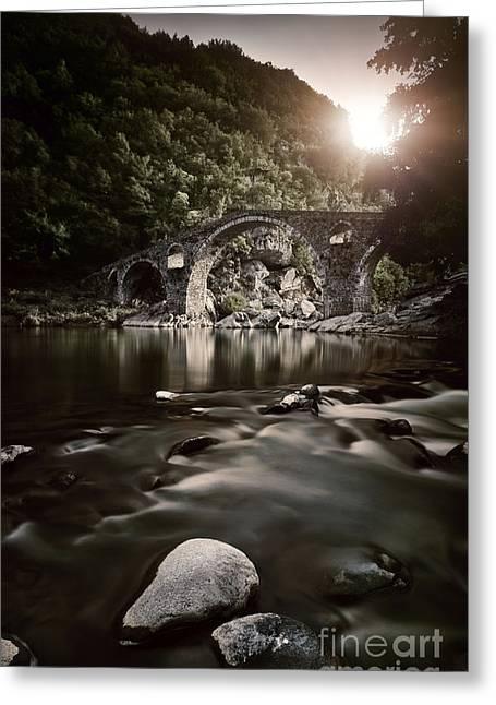 Dyavolski Most Arch Bridge Greeting Card by Evgeny Kuklev