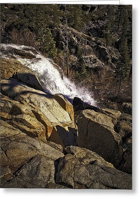 Eagle Falls Greeting Card by Nancy Marie Ricketts