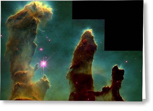 Eagle Nebula, Messier 16 Greeting Card by Science Source