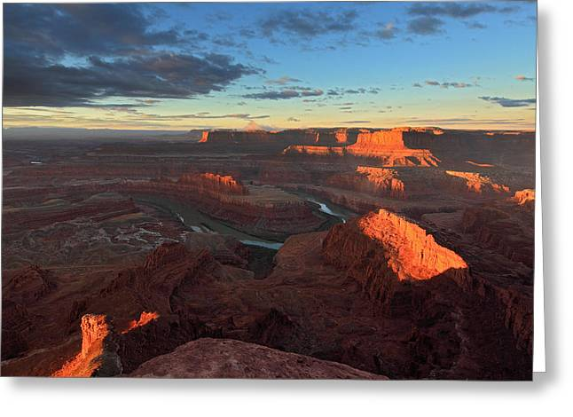 Early Morning At Dead Horse Point Greeting Card
