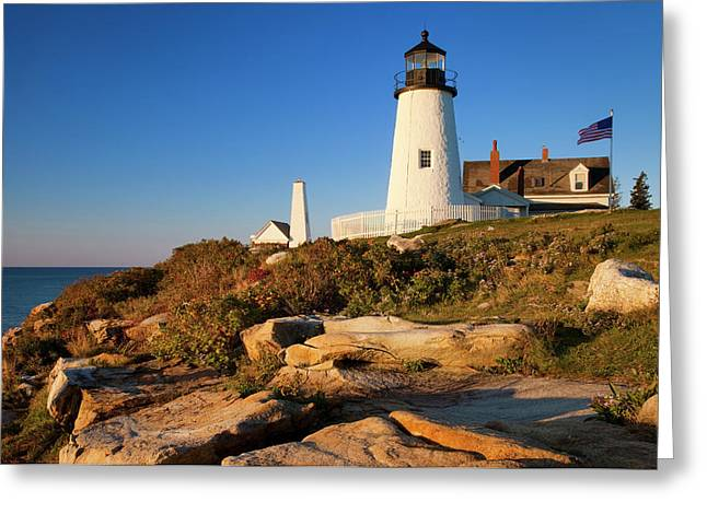 Early Morning At Pemaquid Point Greeting Card by Brian Jannsen