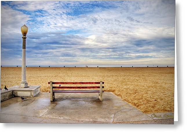 Early Morning At The Beach Greeting Card by Chuck Staley