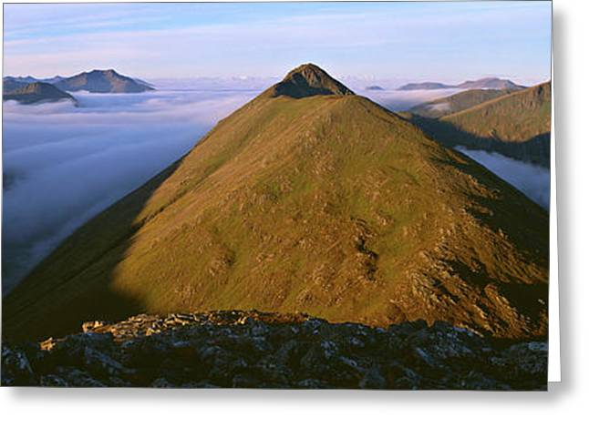 Early Morning Light On Buachaille Etive Greeting Card by Panoramic Images