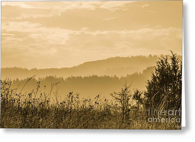 Early Morning Vitosha Mountain View Bulgaria Greeting Card by Jivko Nakev