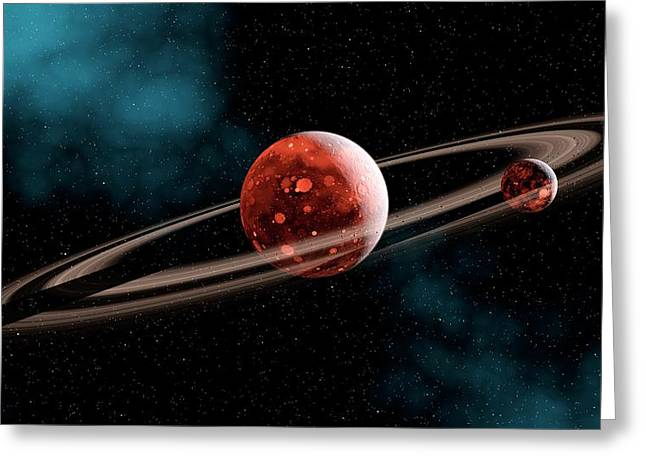 Earth-moon System Formation Greeting Card by Joe Tucciarone