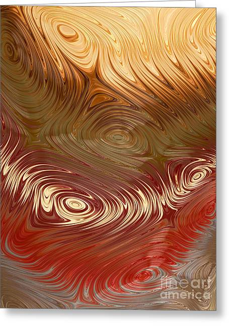 Earth Tones Greeting Card by Heidi Smith