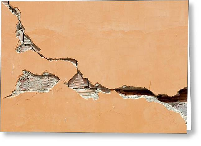 Earthquake Damage In Lorca Greeting Card by Ashley Cooper