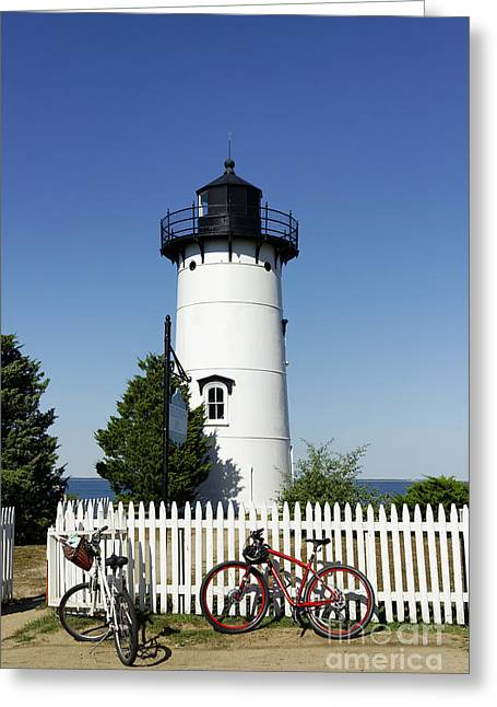 East Chop Lighthouse Greeting Card by John Greim