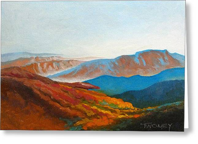 East Fall Blue Ridge Mountains 2 Greeting Card by Catherine Twomey