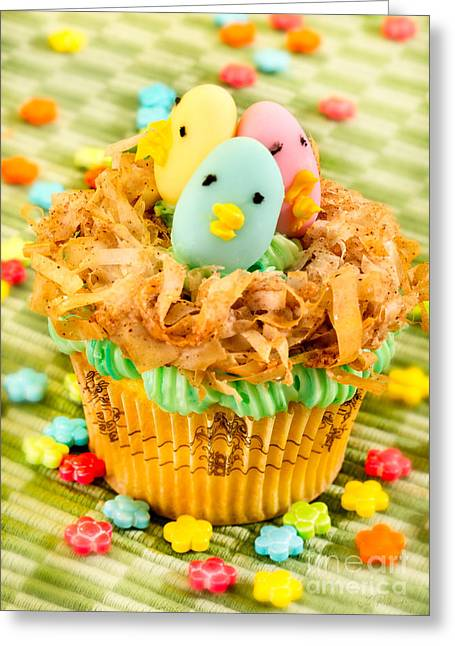 Easter Cupcakes  Greeting Card by Iris Richardson