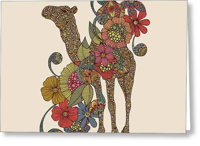 Easy Camel Greeting Card by Valentina