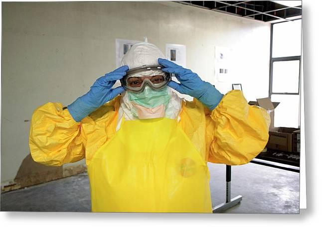 Ebola Care Training Exercise Greeting Card by Cleopatra Adedeji/cdc